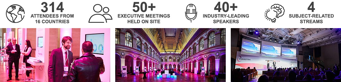 314 attendees from 16 countries - 50+ executive meetings - 40+ industry-leading speakers