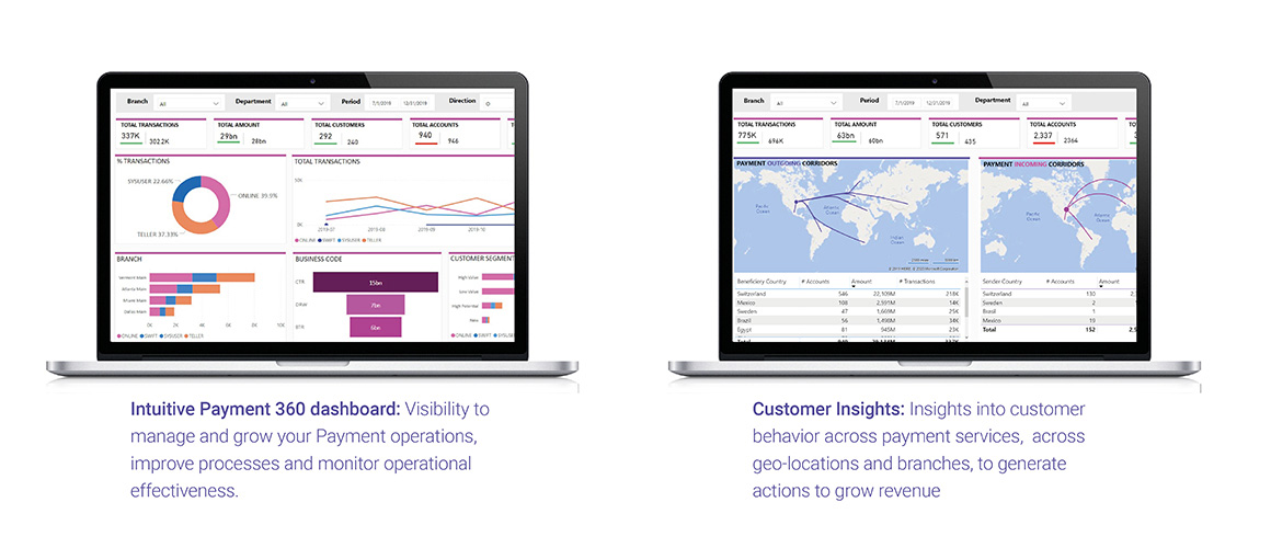 Intuitive payment dashboard - Customer insights