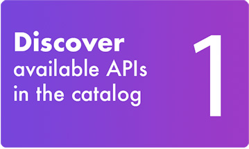 1- Discover available APIs in the catalog