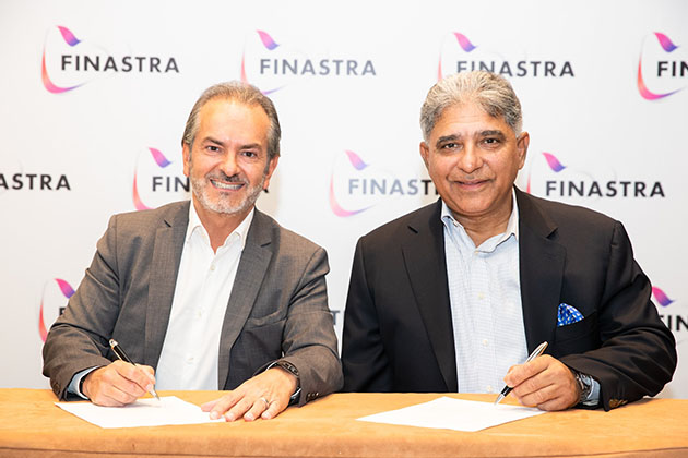 Eric Duffaut, President and Global Head of Field Operations, Finastra (left) with Abid Sattar, CEO and President, Askari Bank (right) at Finastra Universe Dubai 2019.
