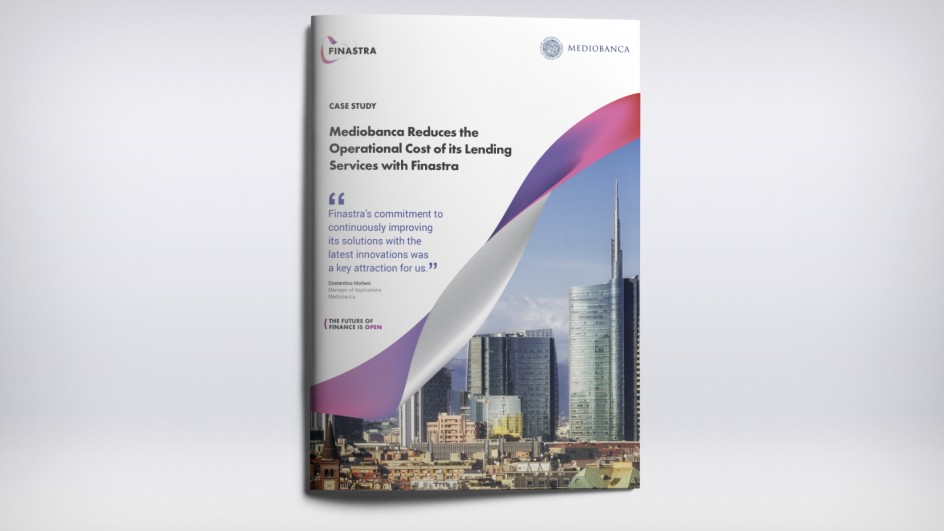 Mediobanca Reduces the Operational Cost of its Lending Services with Finastra