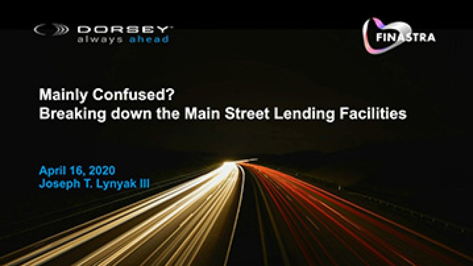 Mainly Confused? Breaking down the Main Street Lending Facilities