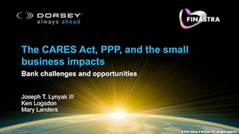 The CARES Act, PPP, and the small business impacts