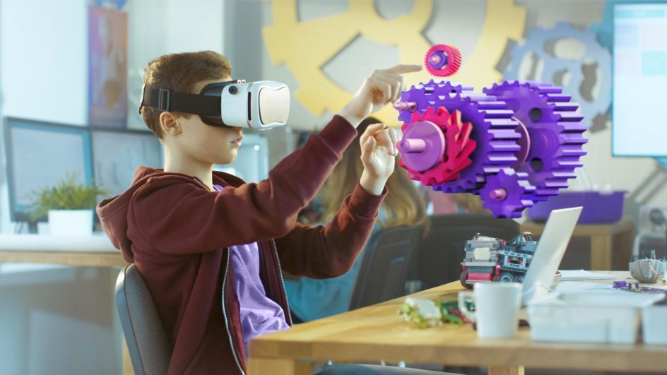 Image of boy with VR headset