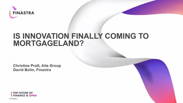 Is Innovation Finally Coming to Mortgageland?