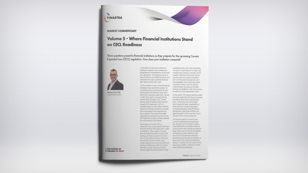 Volume 5 – Where Financial Institutions Stand on CECL Readiness