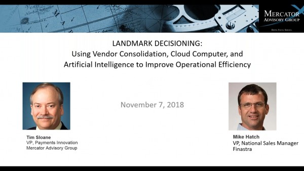 Landmark Decisioning: Using Vendor Consolidation, Cloud Computing, and AI to Improve Operational Efficiency