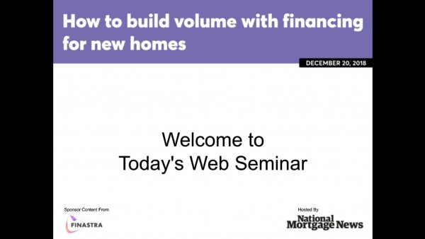How to Build Loan Volume with Financing of New Homes