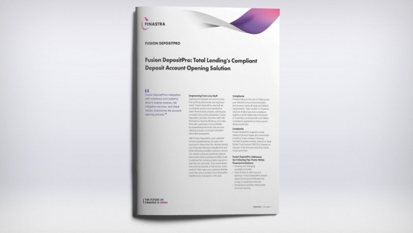 Fusion DepositPro: Total Lending's Compliant Deposit Account Opening Solution