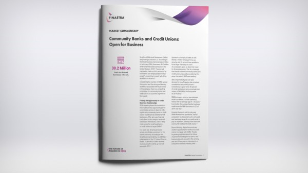 Community Banks and Credit Unions:  Open for Business