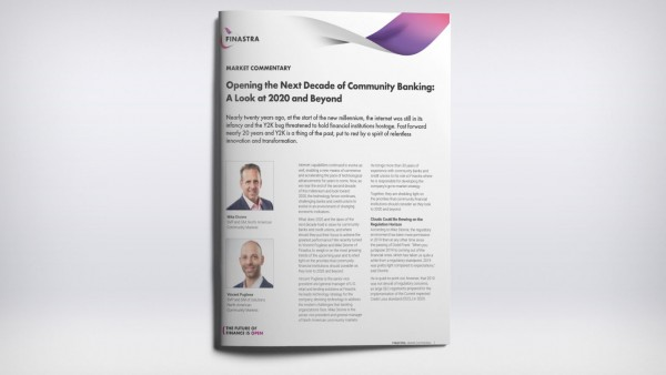 Opening the Next Decade of Community Banking:  A Look at 2020 and Beyond
