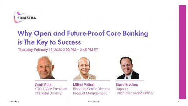 Open and future-proof core banking