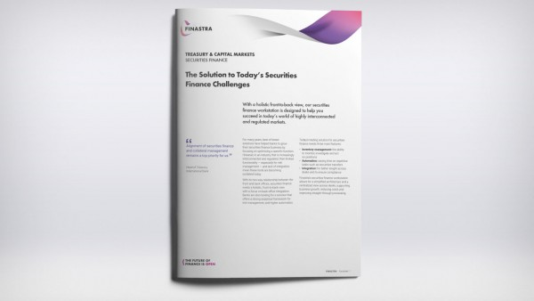 The solution to today's securities finance challenges (Factsheet)