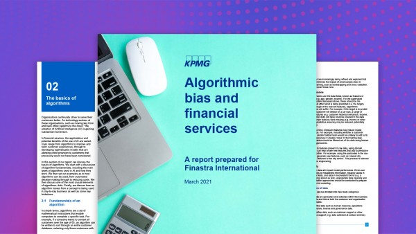 Algorithmic bias and financial services: A KPMG report prepared for Finastra