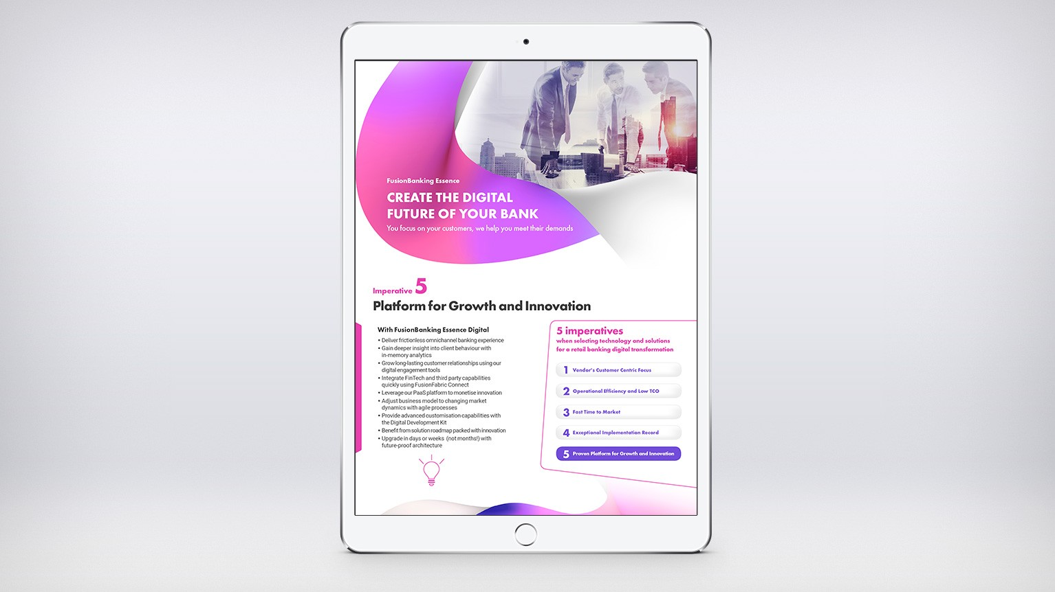 Finastra Digital - Platform for Growth and Innovation Infographic