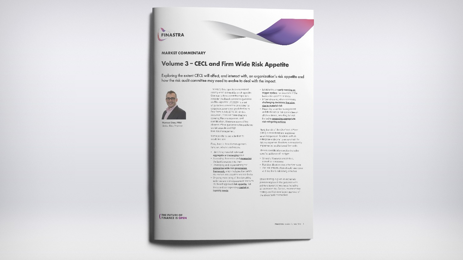 Volume 3 - CECL and Firm Wide Risk Appetite