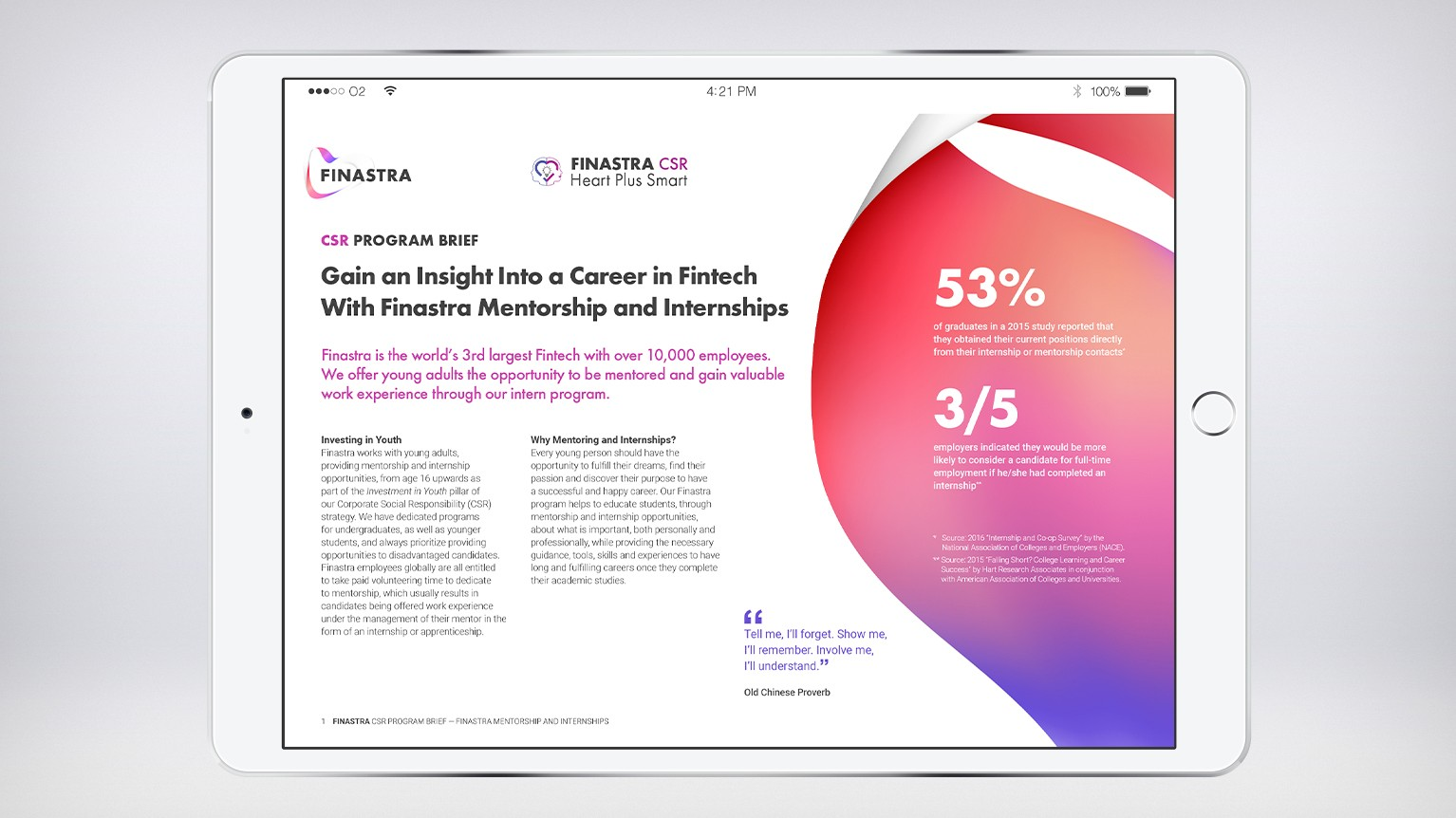 Finastra Mentorship and Internship Program Brief