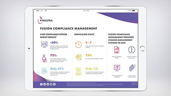 Fusion Compliance Management Infographic