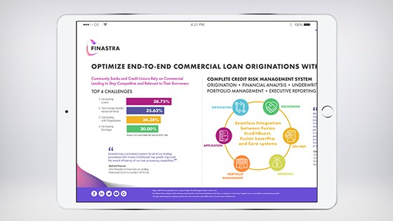 Optimize End-to-End Commercial Loan Originations with Fusion CreditQuest (Infographic) (560x315)