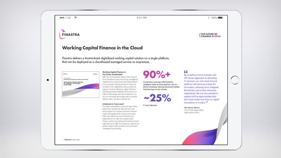 Working Capital Finance in the Cloud