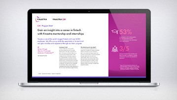 Finastra Mentorship and Internship Program Brief Cover