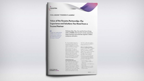 Total Lending - Value of the Finastra Partnership