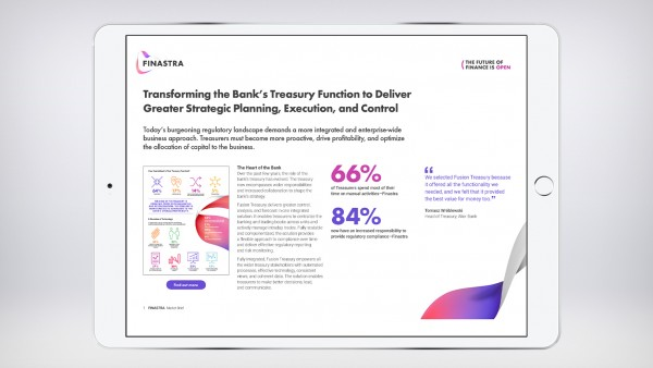 Transforming the Bank's Treasury Function to Deliver Greater Strategic Planning, Execution, and Control