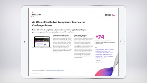 An Efficient End-to-End Compliance Journey for Challenger Banks (Market brief)