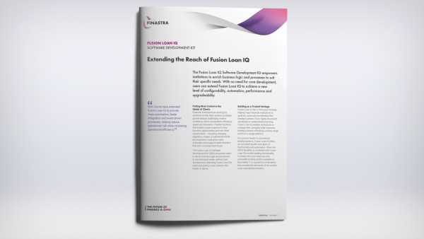 Fusion Loan IQ - Software Development Kit (Fact Sheet)
