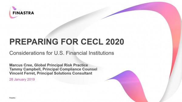 Preparing for CECL 2020