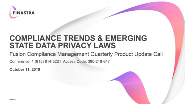 Compliance Trends & Emerging State Data Privacy Laws