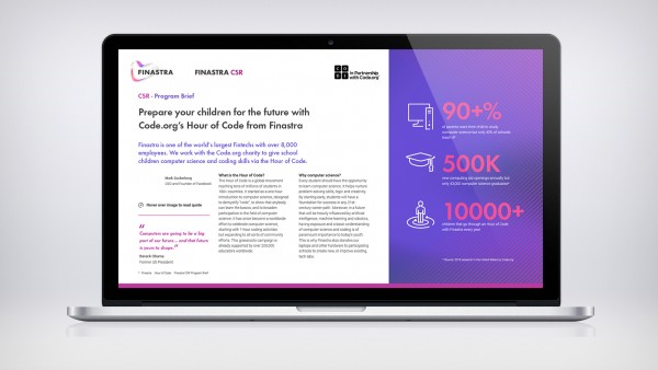 Finastra Hour of Code Program Brief