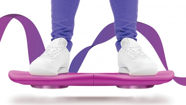 Purple Hoverboard with ribbon